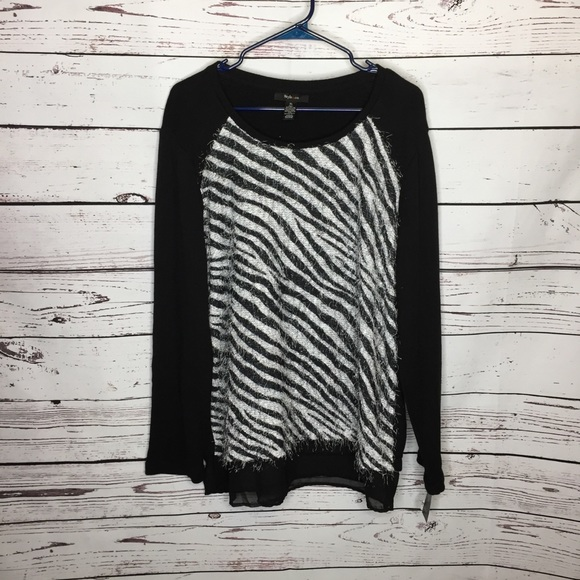 Style & Co Sweaters - Style & co xl zebra striped sweater